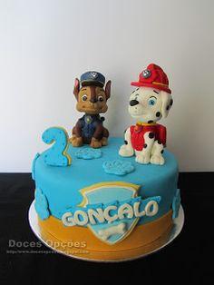 Doces Opções: Bolo de aniversário Patrulha Pata Marshall, Birthday Cake, Desserts, Food, Birthday Cakes, Decorating Cakes, Fiestas, Sweets, Tailgate Desserts