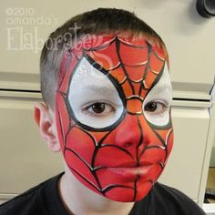 38 Spiderman Face Painting Ideas For Kids - Bests Eye Face Painting, Face Painting For Boys, Mask Painting, Face Painting Designs, Face Art, Body Painting, Face Paintings, Spiderman Makeup, Spiderman Face
