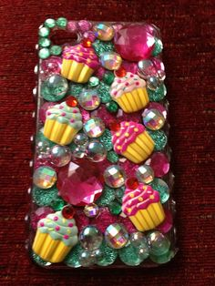 iphone 4/4s decorated cell phone case cupcakes by IKCute on Etsy, $25.00