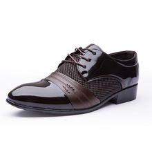 2016 hombres clásicos zapatos planos de vestir de lujo Men 's negocio Oxfords Casual negro / marrón de cuero zapatos Derby(China (Mainland))