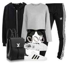 """Style #11555"" by vany-alvarado ❤ liked on Polyvore featuring BLK DNM, adidas Originals, T By Alexander Wang, adidas, Ray-Ban and ASOS"