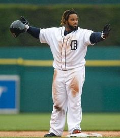 Prince Fielder playing against the Los Angeles Angels of Anaheim at Comerica Park on July 19, 2012 in Detroit, Michigan