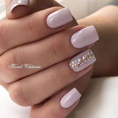 Lilac Nails With Acceted Finger ★ Looking for some wedding nails inspiration? Our collection of exquisite ideas will help you complete your bridal look. Save these ideas for later. 10 Simple Fourth Of July Nails To Keep You Minimalist Short Nail Designs, Beautiful Nail Designs, Beautiful Nail Art, Nail Art Designs, Bride Nails, Wedding Nails, Pink Nails, My Nails, Pink Summer Nails