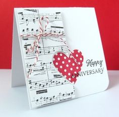 music homemade anniversary cards More Homemade Anniversary Cards, Happy Anniversary Cards, Anniversary Funny, Musical Cards, Karten Diy, Theme Noel, Love Cards, Valentine Day Cards, Paper Cards