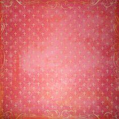 Papper - Flair Designs - Cross Print Crimson - BS0331