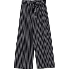 Striped Wide Leg Belted Pants Stripe (195 MAD) ❤ liked on Polyvore featuring pants, zaful, wide leg trousers, striped pants, striped wide leg pants, wide leg pants and stripe pants
