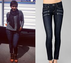 Mindy posted a photo to Instagram today of her new jeans. They're by Paige Denim and definitely 'Edgemont', and this looks like the right wash too. Paige Denim Edgemont Ultra Skinny Remi - $239