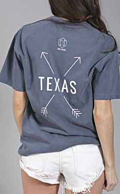 charlie southern: state arrow comfort colors tee - texas [navy]