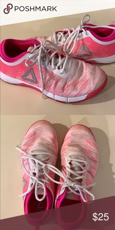 4f31f748f Pink Reebok sneakers Great for everything ! Reebok Shoes Athletic Shoes
