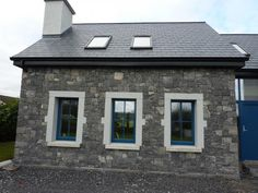 Here you can view a selection of stone houses I have constructed. If you would like further information or would be interested in hiring me as a stonemason then please feel free to contact me. House Front, My House, Stone Houses, Bungalow, Ireland, Restoration, Construction, Cottage, Exterior
