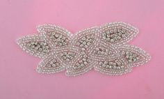 Rhinestone Applique Silver  Delia  1pc by PrettyThingsSupplies, $14.00    Pretty...but maybe too small