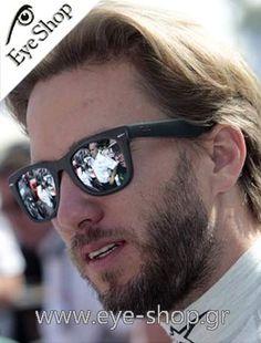 64bf6ff6d2 Nick Heidfeld φοράει τα γυαλιά ηλίου Rayban 4105 Folding Wayfarer κλικ στη  φωτο για να τα βρείτε