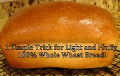 Simple Trick for Light & Fluffy Whole Wheat Bread ~ How she makes her bread step by step... and she offers a few other tips that help too, regardless of the recipe you decide to use! I can't believe how big of a difference this makes!
