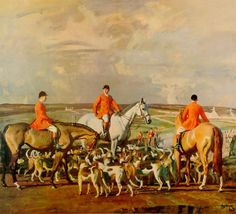 """Eleven O'Clock"" by Alfred Munnings"