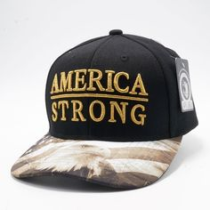 e214093f68b Shop Pit Bull Exclusive Design Snapback Faded US Flag Printed Custom Brim  Black Crown with Amercia Strong Metalic Gold Embroidery Hats Caps Wholesale