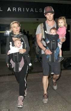 Chris Hemsworth and Elsa Pataky with children. Married since 2010