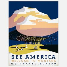 See America Montana Halls 17x22