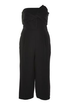 Refresh your all-in-one look in this bandeau jumpsuit in a chic black. We love the wide-leg shape and tie detail to the front. A perfect party look, add heels to compliment the outfit. Playsuits, Jumpsuits, Tall Women, Petite Outfits, Party Looks, Black Jumpsuit, What To Wear, Overalls