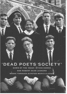 Dead Poets Society Robert Sean Leonard and Robin Williams were my performance heroes in this film. Beau Film, Foto Poster, Poster S, Robin Williams, See Movie, Movie Tv, Sean Leonard, Films Cinema, Kino Film