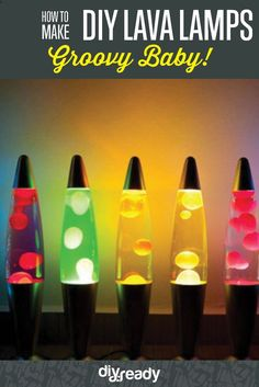 DIY Lava Lamp | DIY Tutorials - These Are Super Cool And Fun Projects To Make With Kids, Teens And Adults! Colorful And Creative Room Decor Ideas by DIY Ready at http://diyready.com/how-to-make-a-diy-lava-lamp-2/