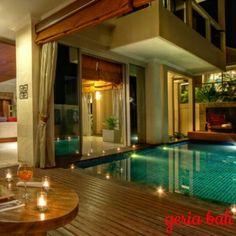 elegantly designed luxury villa tucked into the contours of a scenic hillside on the highest point of the Bukit peninsula in Bali www.geriabalivacation.com/sky-house/  #bali #geriabali #roomcritic #beautifuldestinations #travel #destinosmaravilhososbyeli #luxuryworldtraveler #travellerworld #thosesummerdays__ #hgtv #tgif #holiday #balivilla #Jimbaran #luxwt #thegoldlist #lycianman #magicpict #golden_heart #glamour #indonesian #vacation #indo #sassychris1 #Instanusantara #travel #vscocamphotos #vscocam #trip Small Pool Design, Jimbaran, Pool Designs, World Traveler, Luxury Villa, Bali, Golden Heart, Vacation, Contours