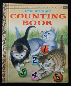 Vintage Little Golden Book My First Counting Book