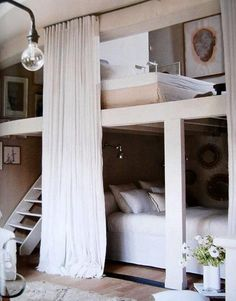 cool bed - love the privacy guest room bunk beds with privacy curtains