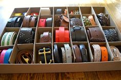 How to Organize Belts