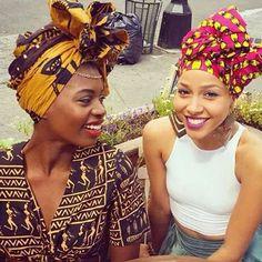 African Attire Head Wrap Gele Print Dress Sisters Black Unity Beautiful Culture Heritage Squad Zanjoo Store