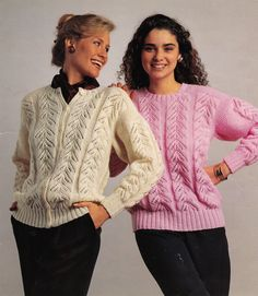 Vintage Knitting Pattern Instructions for Ladies Lace Cardigan & Jumper 6 Sizes | eBay