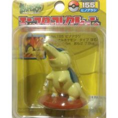 Pokemon 2004 Cyndaquil Tomy 2 Monster Collection Plastic Figure #155