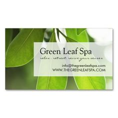 professional massage spa business card - Spa Business Cards