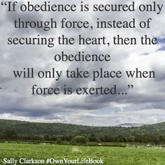 True obedience comes from love...