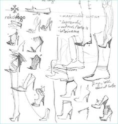 Fashion Design Sketches Shoes step by step #loveitalianshoes