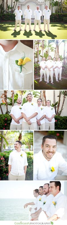 I would have my groom have some sort of different element to individualize him from the groomsmen...