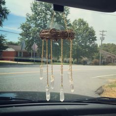 Just in time for summer!! These mini chandeliers are perfect for your rear view mirror, hang in your favorite window or add that extra personality to your desk.   *Free domestic shipping*