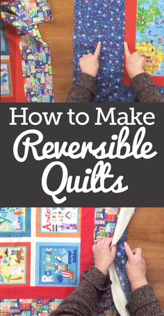 Laura Roberts teaches you how to sandwich a reversible quilt with ease. Make sure before making both quilts that the border of your backing quilt has four extra inches on every side. Learn the rest of the steps like folding your quilts in half length and width wise, creasing them, and matching the two up perfectly.