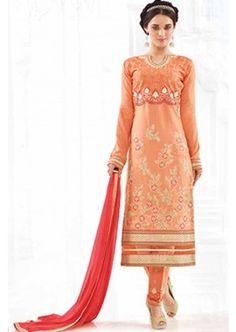 Orange Cotton Salwar Kameez, - £56.00, #FashionUK #LatestFashion #DesignerDresses #Shopkund
