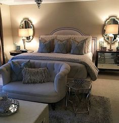 Bedroom with dressing room: projects, photos and plans - Home Fashion Trend Home Decor Bedroom, Interior Design Living Room, Living Room Decor, Bedroom Ideas, Nautical Bedroom, Dream Rooms, Dream Bedroom, Casa Disney, Master Bedroom Design