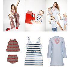 """Little-a-like –  Partnerlook ist uncool? Im Fall der """"Little-a-like"""" Kollektion ist das ausnahmsweise anders. Das Model Elisa hat für den italienischen Online-Retailer Yoox eine Mutter und Kind-Kollektion entworfen. Sie ist inspiriert von Ägypten – daher stammt auch die Baumwolle – und Italien – dort wird die Kleidung gefertigt. Für die Damen gibt es sommerliche Kleider, für die Kleinen dazu passende Strampler, T-Shirts und Kleider. Lebevolle Stickereien und Streifen prägen die Kollektion…"""
