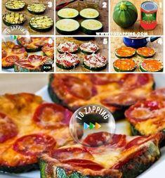 Mini Pizzas De Calabacín. Hoy os presentamos una receta fácil y rápida, mini pizzas de calabacín. Para conseguir que los niños coman verduras de una manera