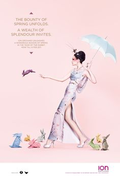 ION Chinese New Year Campaign by Kiah Lim, via Behance