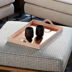 Commune Leather Tray   west elm