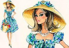 market day barbie robert best collage