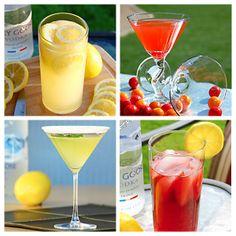 The Slow Roasted Italian: Spring Cocktail Roundup - Spring Cocktail roundup. Lucky Lemon Seven, Raspberry Lemon Breeze, Legends Lemon Drop Martini and Dancing Elmo Cocktail.