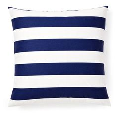 one kings lane | striped 20x20 outdoor pillow, navy