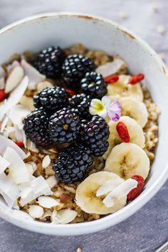 Blackberry & Coconut Buckwheat Porridge
