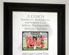 Cheer Coach Gift, Cheerleading Coach Gifts, Cheerleading Gifts for Coaches, Cheer Team Gift for Cheer Coach Wedding Gifts For Parents, Wedding Day Gifts, Gifts For Father, Anniversary Party Decorations, 50th Anniversary Gifts, Cheer Coach Gifts, Photo Frame Design, Cheerleading Gifts, Personalized Picture Frames