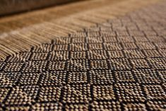 Handwoven black fishing line and natural fique fiber rug in pur aluna weave.  #FishingLine #Acrylic #Fique #Rugs #Tapetes #Alfombras Animal Print Rug, Weave, Hand Weaving, Fiber, Fishing, Rugs, Natural, Black, Farmhouse Rugs