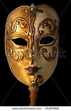 venetian mask, from Venice, Italy - stock photo
